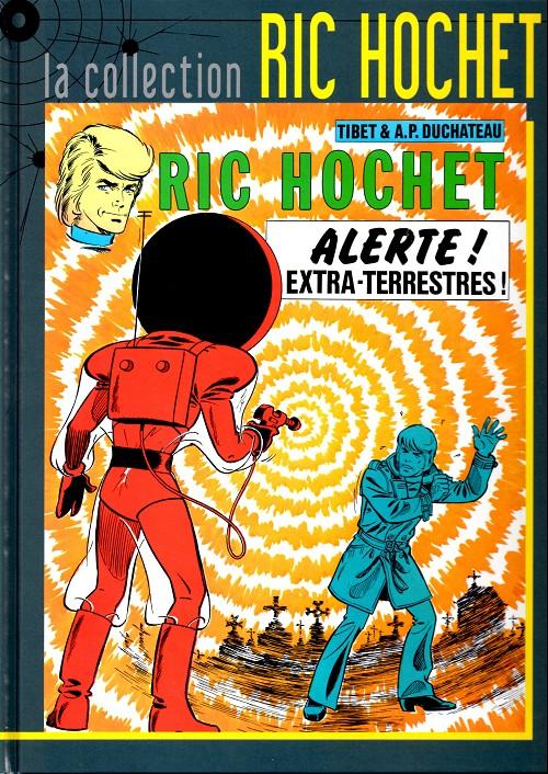 Couverture de Ric Hochet - La collection (Hachette) -22- Alerte aux extra-terrestres !