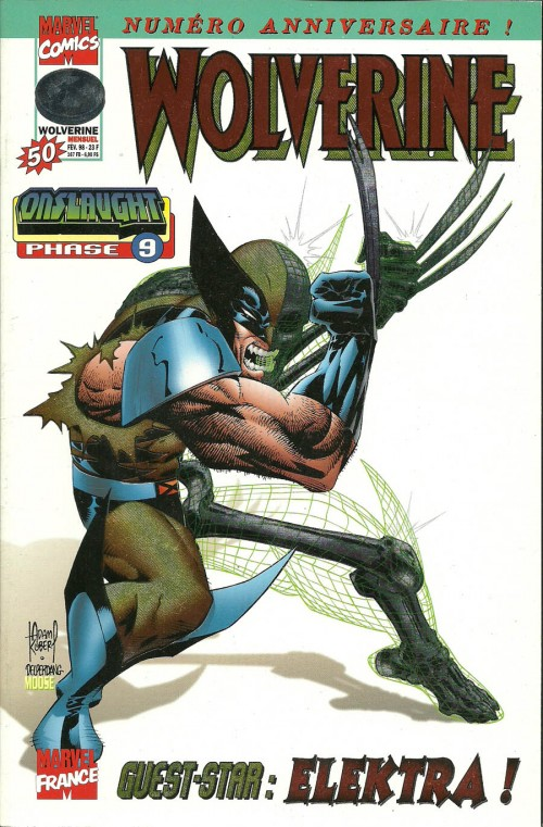 Couverture de Wolverine (Marvel France 1re série) (1997) -50- Onslaught phase 9
