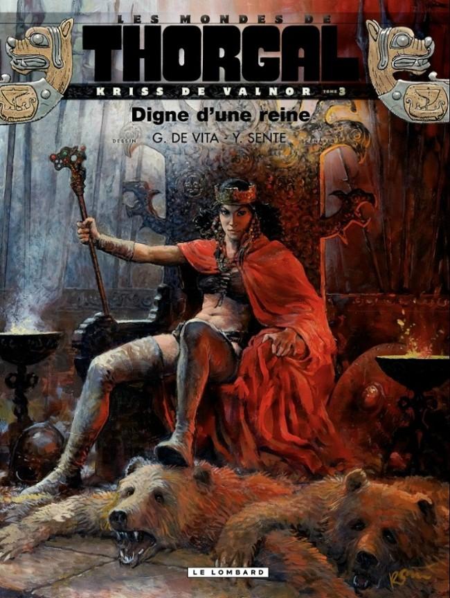 Couverture de Thorgal (Les mondes de) - Kriss de Valnor -3- Digne d'une reine