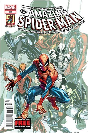 Couverture de Amazing Spider-Man (The) Vol.2 (Marvel comics - 1999) -692- Alpha part 1 : point of origin