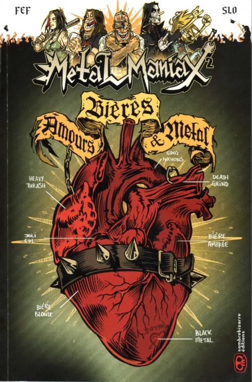 Couverture de Metal maniax -2- Bières, Amours & Metal