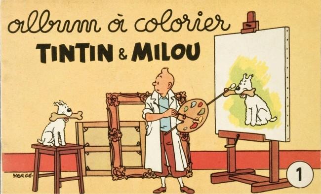 Couverture de Tintin (Album à colorier) -2/1- Album N°1