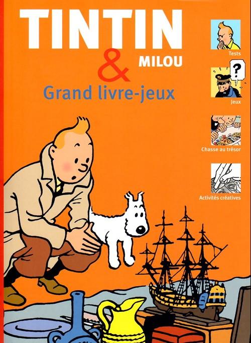 Couverture de Tintin - Divers -AJ- Tintin & Milou - Grand livre-jeux