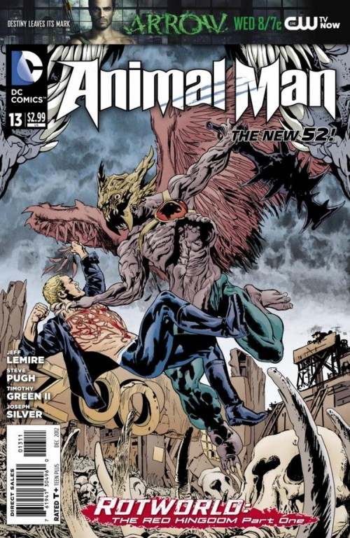 Couverture de Animal Man (2011) -13- Rotworld : The Red Kingdom Part 1