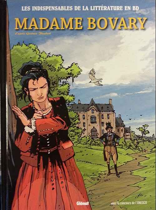 Couverture de Les indispensables de la Littérature en BD -8- Madame Bovary