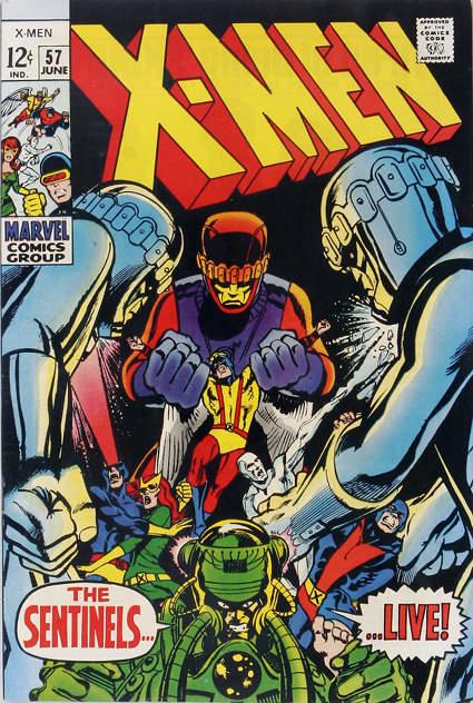 Couverture de Uncanny X-Men (The) (1963) -57- The Sentinels… live!