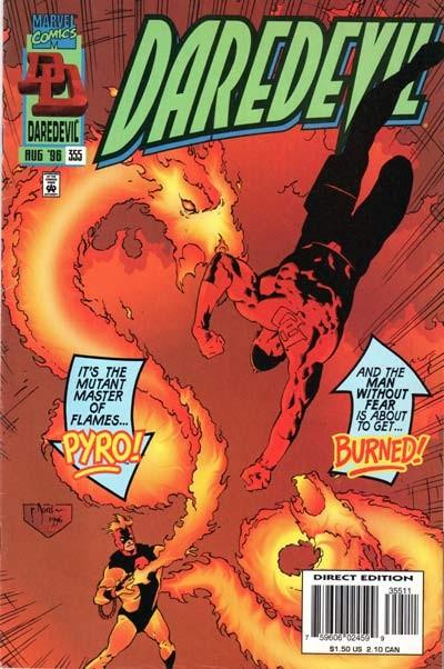 Couverture de Daredevil Vol. 1 (Marvel - 1964) -355- Trial by fire!
