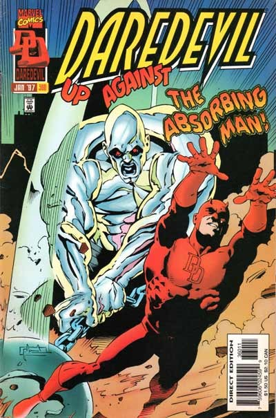 Couverture de Daredevil (1964) -360- Alone against the absorbing man!