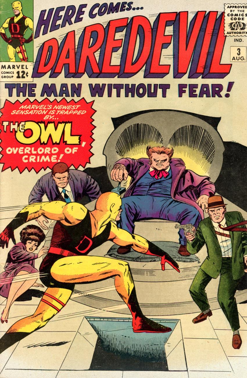 Couverture de Daredevil (1964) -3- The Owl, overlord of crime!