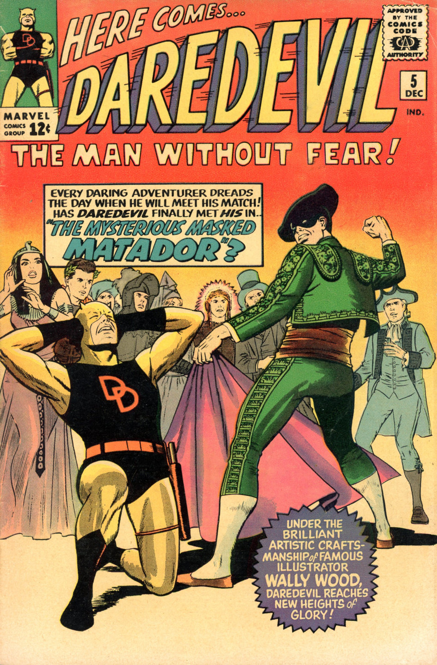 Couverture de Daredevil Vol. 1 (Marvel - 1964) -5- The mysterious Masked Matador?