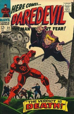 Couverture de Daredevil (1964) -20- The verdict is death!