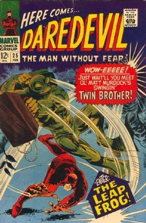 Couverture de Daredevil (1964) -25- Enter: The leap-frog!