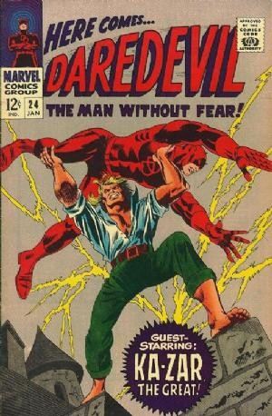Couverture de Daredevil Vol. 1 (Marvel - 1964) -24- The mystery of the Midnight Stalker!