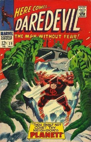 Couverture de Daredevil (1964) -28- Thou shalt not covet thy neighbor's planet!