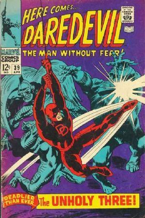 Couverture de Daredevil (1964) -39- The unholy three!