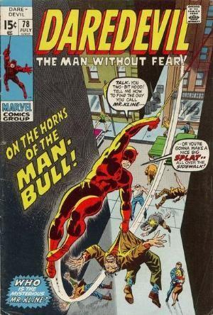 Couverture de Daredevil Vol. 1 (Marvel - 1964) -78- The horns of the Bull!