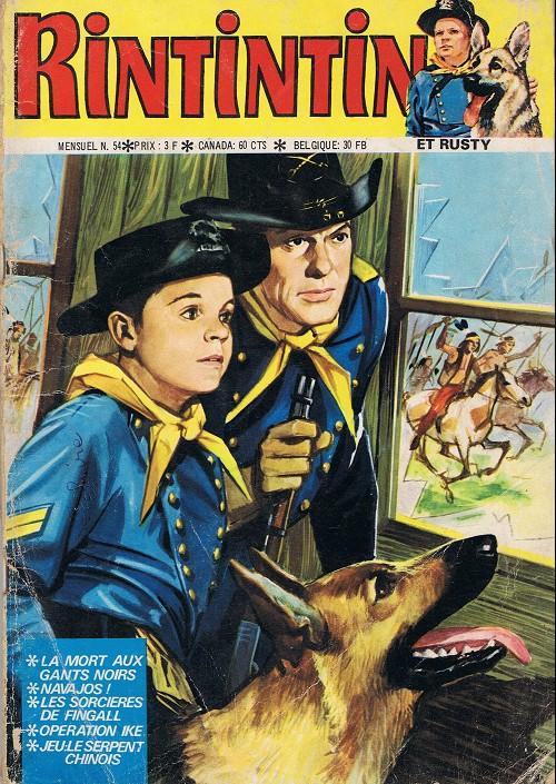 Couverture de Rin Tin Tin & Rusty (2e série) -54- La mort aux gants noirs