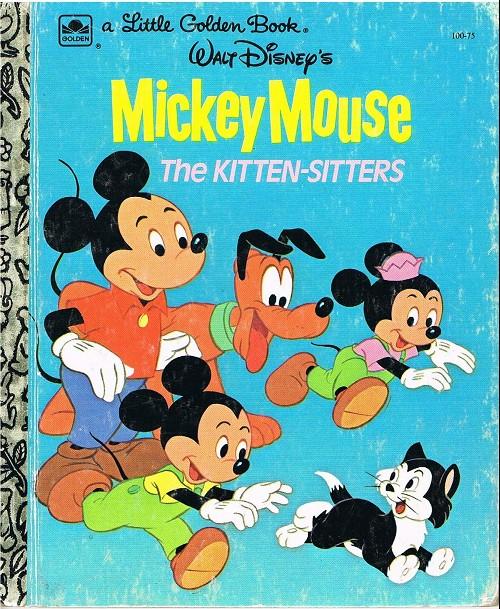 Couverture de A little golden book -10075- Mickey mouse the kitten-sitters