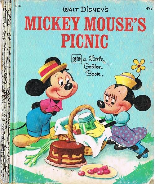 Couverture de A little golden book -15D- Mickey mouse's picnic