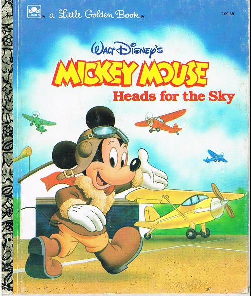 Couverture de A little golden book -10068- Mickey mouse heads for the sky