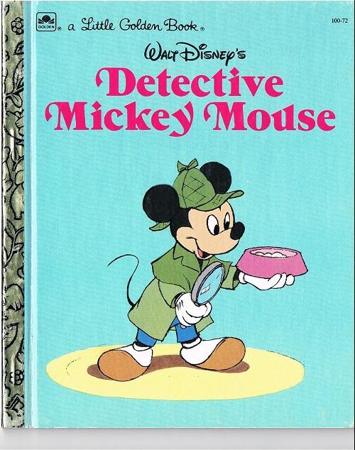 Couverture de A little golden book -10072- Detective mickey mouse