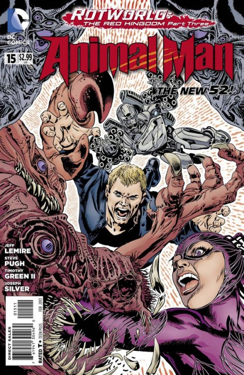 Couverture de Animal Man (2011) -15- Rotworld: The Red Kingdom, Part Three
