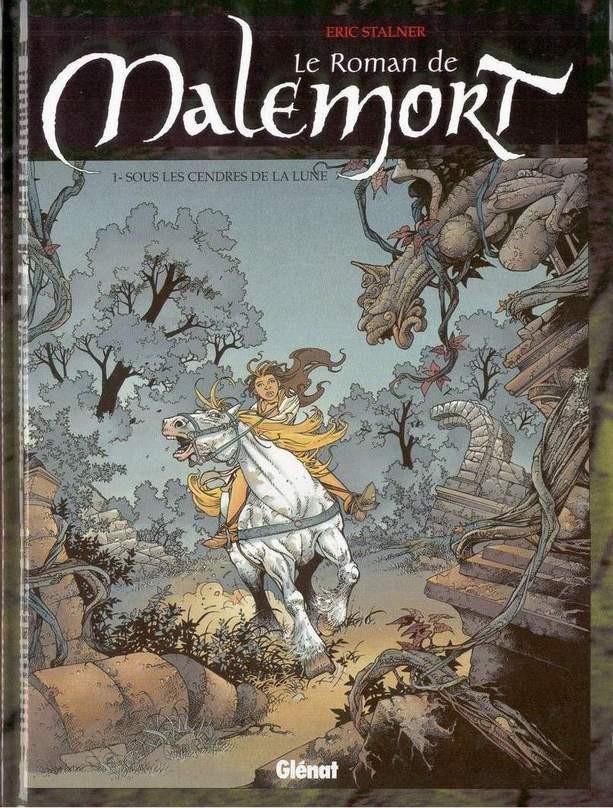 Couverture de Le roman de Malemort -1- Sous les cendres de la lune