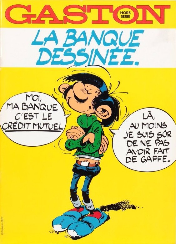 Couverture de Gaston (Hors-série) -Pub- La banque dessinée