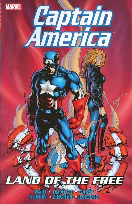 Couverture de Captain America (1998) -INT02- Land Of The Free