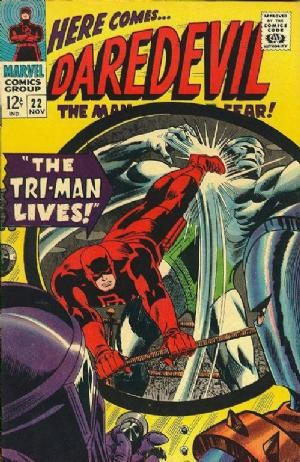Couverture de Daredevil Vol. 1 (Marvel - 1964) -22- The Tri-Man Lives