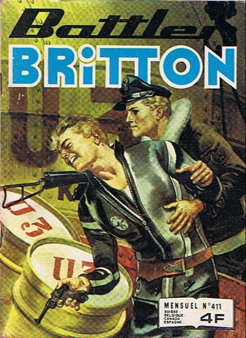 Couverture de Battler Britton -411- Base flottante