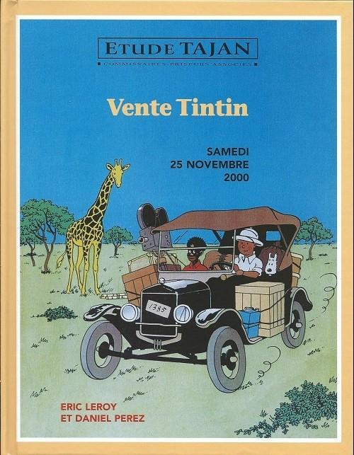 Couverture de (Catalogues) Ventes aux enchères - Tajan - Tajan - Tintin - samedi 25 novembre 2000