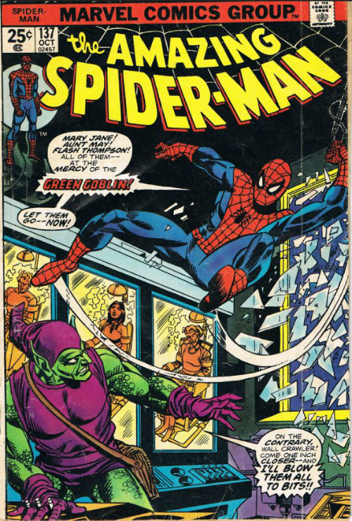 Couverture de The amazing Spider-Man Vol.1 (Marvel comics - 1963) -137- The green goblin strikes
