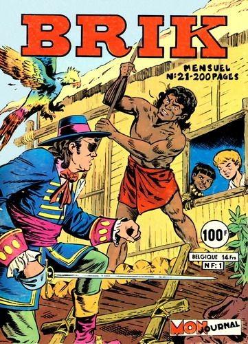 Couverture de Brik (Mon journal) -21- Aux mains des Caraïbes