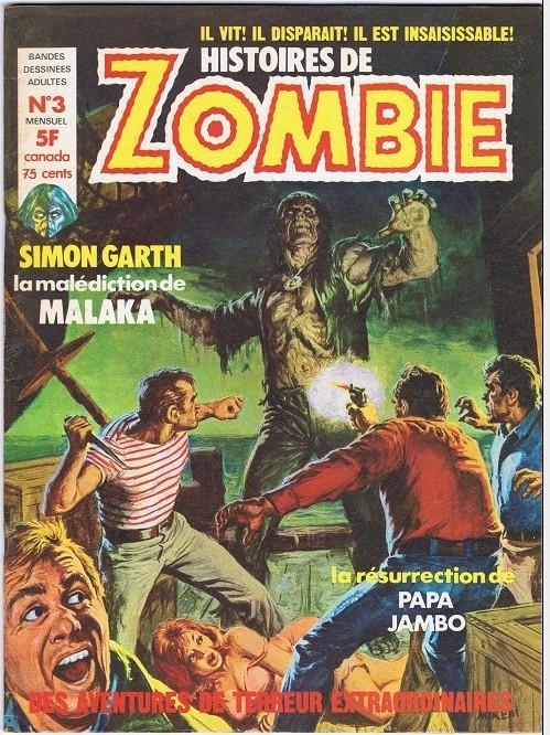 Couverture de Zombie (France Sud Publications / Bois de Boulogne) -3- La malédiction de Malaka