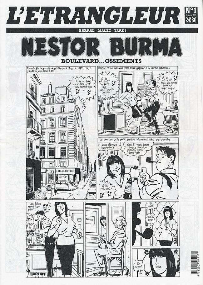 Couverture de L'Étrangleur - Nestor Burma -4- Boulevard... Ossements (1)