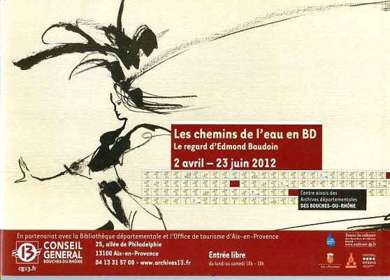 Couverture de (AUT) Baudoin, Edmond -Cat- Les chemins de l'eau en BD - Le regard d'Edmond Baudoin