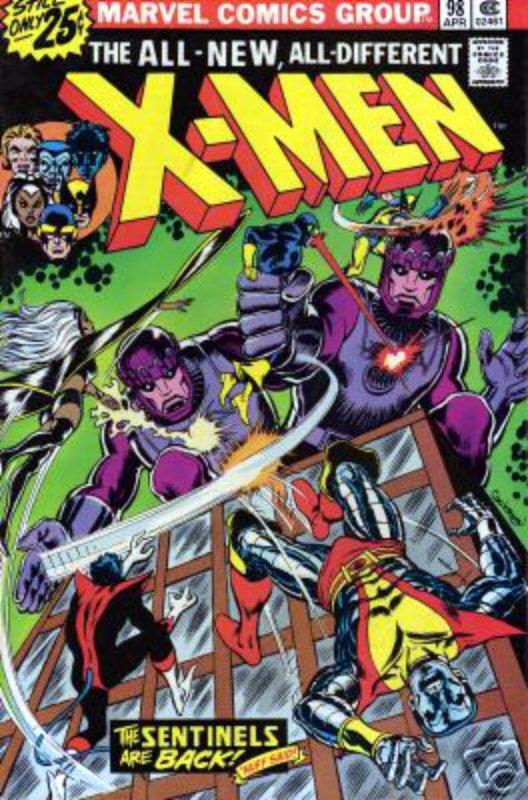 Couverture de Uncanny X-Men (The) (Marvel comics - 1963) -98- Merry Christmas, X-Men: the Sentinels have returned