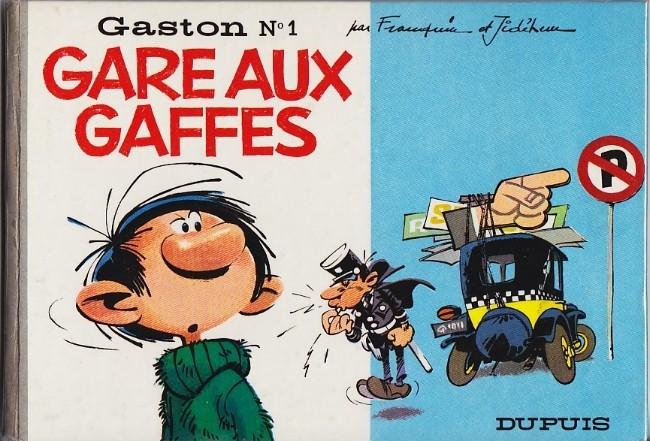 Couverture de Gaston -1- Gare aux gaffes