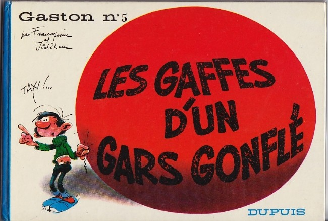 Couverture de Gaston -5- Les gaffes d'un gars gonflé