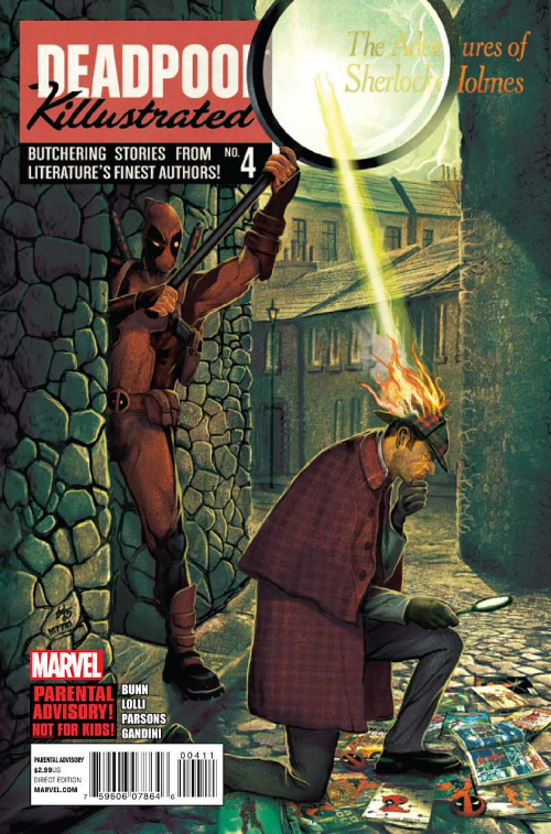 Couverture de Deadpool Killustrated (2013) -4- The Adventures of Sherlock Holmes