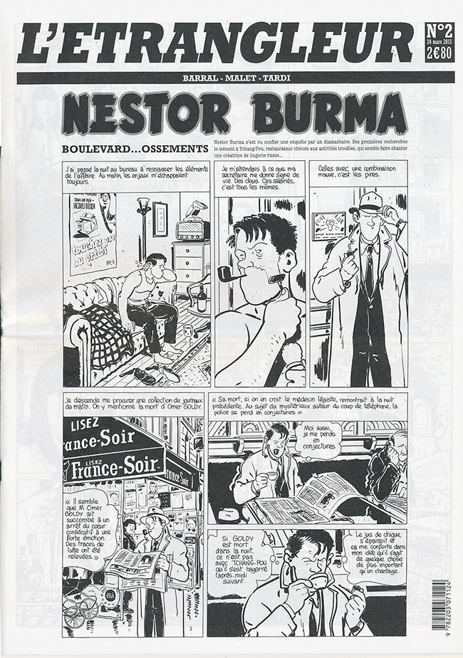 Couverture de L'Étrangleur - Nestor Burma -5- Boulevard... Ossements (2)