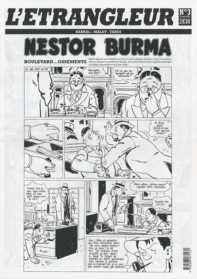 Couverture de L'Étrangleur - Nestor Burma -6- Boulevard... Ossements (3)