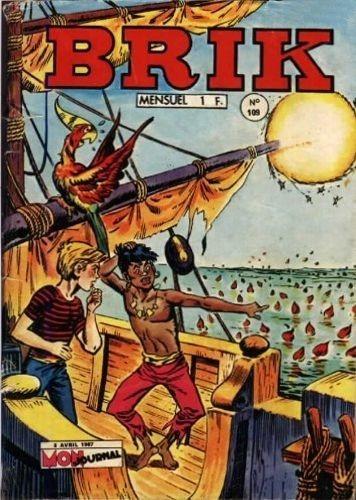 Couverture de Brik (Mon journal) -109- La naufragée des Sargasses