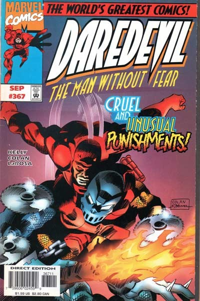 Couverture de Daredevil (1964) -367- Cruel & Unusual Punishments