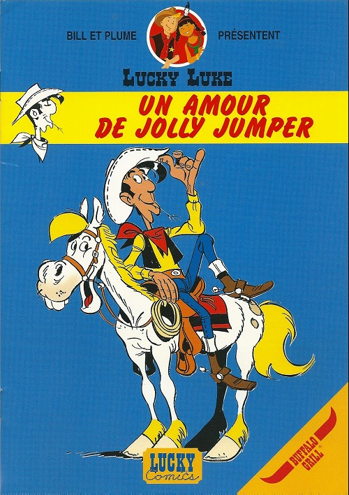 Couverture de Lucky Luke (Pub et Pastiches) -Buf4- Un amour de Jolly Jumper