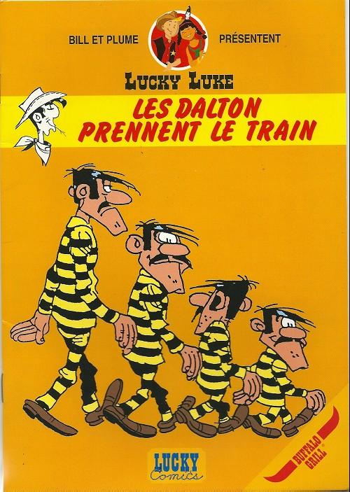 Couverture de Lucky Luke (Pub et Pastiches) -Buf1- Les Dalton prennent le train
