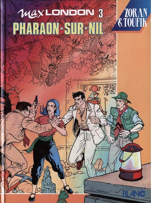 Couverture de Max London -3- Pharaon-sur-Nil