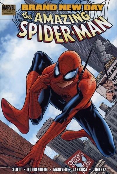 Couverture de The amazing Spider-Man Vol.1 (Marvel comics - 1963) -INT- Brand New Day, vol. 01