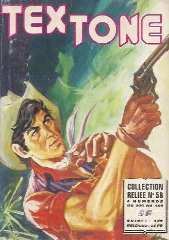 Couverture de Tex-Tone -Rec58- Collection reliée N°58 (du n°406 au n°409)